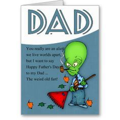 Dad, Father's Day Humorous Alien