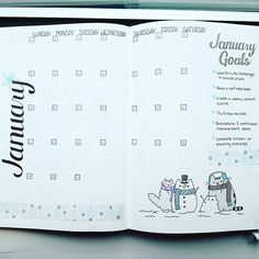 January is here! What goals do you have to start the new year? #bujocommunity #bulletjournaljunkie #bulletjournaljunkies #bulletjournal #bulletjournaling #bujojunkies #bujojunkie #bujo #bulletjournalspread #monthly #month #january #january2017 #januarycalendar