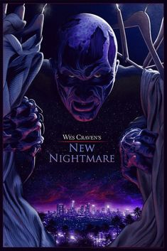 Wes Craven's New Nightmare Mondo print, Mike Saputo, Freddy Krueger, horror Horror Icons, Horror Movie Posters, Movie Poster Art, Horror Art, Horror Movies, Slasher Movies, Funny Horror, Creepy Horror, Nightmare Movie