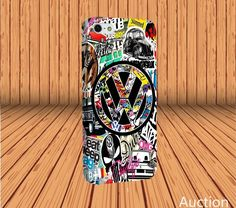 Sticker Bomb Graffiti VW Vans for iPhone 7 Hard Case Laser Technology #designyourcasebyme