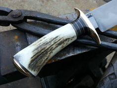 Antler Knife, Knife Handles, Knife Making, Knifes, Hawks, Blacksmithing, Hobbies, Carving, Tools