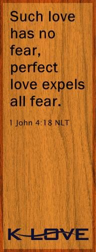 "If we are afraid, it is for fear of punishment, and this shows that we have not fully experienced his perfect love.19 We love each other* because he loved us first.   20 If someone says, ""I love God,"" but hates a Christian brother or sister,* that person is a liar; for if we don't love people we can see, how can we love God, whom we cannot see?21 And he has given us this command: Those who love God must also love their Christian brothers and sisters.*"