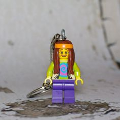 Hippie LEGO key chain by boxhounds on Etsy, $10.00