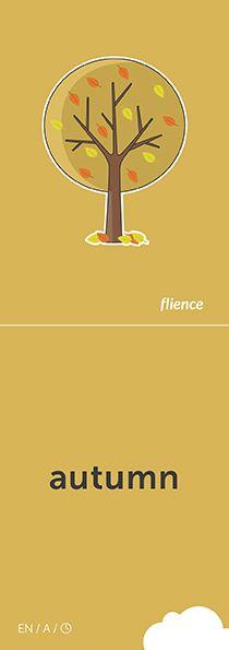 Autumn #CardFly #flience #time #english #education #flashcard #language
