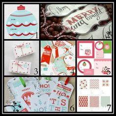 FREE Printables and Giftwrap Ideas.....