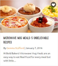Microwave Mini Meals