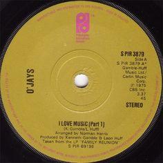 "7"" 45RPM I Love Music (Part 1)/I Love Music (Part 1"