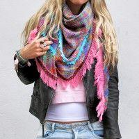 Lovely Warm Scarf Fringe Scarf, Plaid Scarf, Indian, Warm, Fashion, Fashion Styles, Moda, Fashion Illustrations