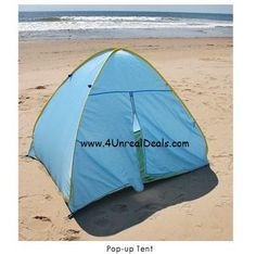 Deluxe Pop Up Beach Tent Sun Shelter with Zipper Privacy Door Family Cabana Sun Wind Tent Blue ** More info could be found at the image url.