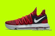 new concept e55e9 a9f9e New Nike KD 10 University Red Black
