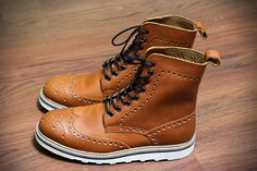 """Brogues Boots """"Jack"""" : - Upper : Tan Pull Up Leather 1.8-2.0 mm - Lining &…"""
