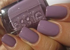Essie Warm and Toasty Turtleneck – a blue tinged lavender crème hue with jelly-esque characteristics, in a self leveling and well pigmented formula... from winter 2013