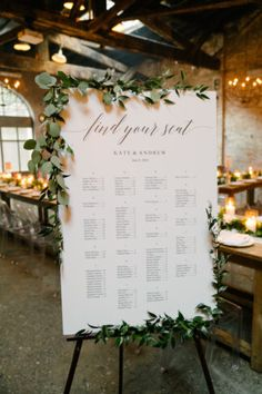 Romantic script style calligraphy wedding seating chart – find your seat. Adorn… Romantic script style calligraphy wedding seating chart – find your seat. Adorned with greenery wreaths of eucalyptus. Seating Plan Wedding, Wedding Signage, Wedding Reception, Rustic Wedding, Wedding Table Signs, Wedding Seating Charts, Elegant Modern Wedding, Table Seating Chart, Wedding Favors