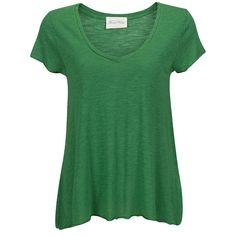 American Vintage Top Jacksonville Green ($42) found on Polyvore