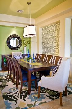 Pretty Pattern play in fresh Dining room by restylegroup.com Interior (28 of 66)