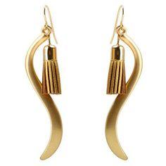 Bending Shape Tassel Drop Earrings (€3,47) ❤ liked on Polyvore featuring jewelry, earrings, tassel jewelry, tassle earrings, tassel earrings, fringe tassel earrings and drop earrings