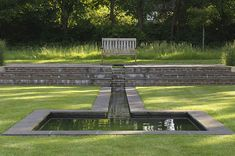 Very nice reflective pool.