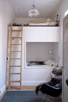 / via petit & small - kid's room with bunk beds: