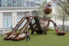 Silver playground in New York