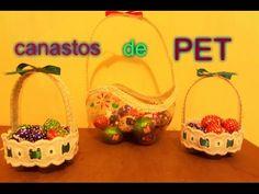 Canastito de pascua con botellas (PET ) - YouTube