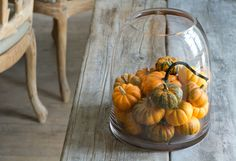 Decorating the Fall Harvest http://www.shopterrain.com/harvest_decor #pumpkins #vessel