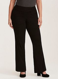Relaxed Trouser Pant - Black Millennial Stretch, DEEP BLACK