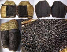 Riveted maille suneate (Japanese lower leg armor)