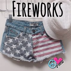 ❤️ 4th of July Ready Flag Shorts ❤️ Harmony & Havoc ❤️ ❤️ Super COOL Light - Wash Flag Shorts ✌️ Size 0 ✌️ Frayed Hemming  Perfect Condition   ❌❌ NO TRADE ❌❌ Harmony & Havoc Shorts Jean Shorts