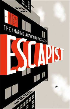 Michael Chabon Presents…The Amazing Adventures of The Escapist - Comic book cover by Chris Ware Typography Letters, Graphic Design Typography, Creative Typography, Hand Lettering, Graphic Art, Book Cover Design, Book Design, Chris Ware, Michael Chabon