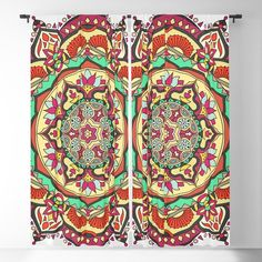 Tibetan mandala Blackout Curtain Blackout Windows, Blackout Curtains, Tibetan Mandala, Curtain Rods, Throw Pillows, Toss Pillows, Cushions, Blockout Blinds, Drapery Rods