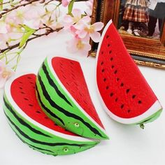 Fruit New Cute Squeeze Squishy Watermelon Slow Rising Simulation Stress Stretch Bread Toys Gift Stress Toys, Stress Relief Toys, Anxiety Relief, Animal Squishies, Toys Uk, Watermelon Slices, Practical Jokes, Felt Food, Kids Corner