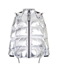 Oversized Bonded Puffer by Ivy Park - Jackets & Coats - Clothing - Topshop Silver Puffer Jacket, Girl Fashion, Fashion Outfits, Womens Fashion, Trajes Kylie Jenner, Mode Mantel, Ivy Park, Puffy Jacket, Down Coat