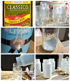 Good visual tutorial for coating inside of jars w/paint.