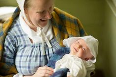 Mother and new baby  Celebrate Mother's Day the 19th century way