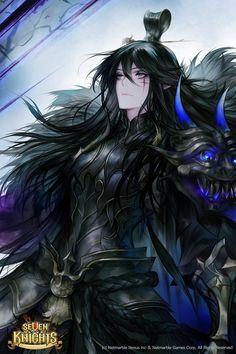 :DINOREX - 17 (@DinoDinopixel)   Twitter Character Concept, Character Art, Concept Art, Character Design, Seven Knight, Knight Art, Fantasy Characters, Anime Characters, Dark Fantasy