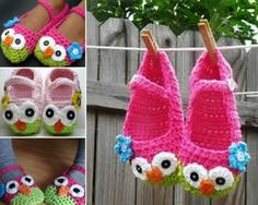 Mary Jane Owl Slippers Free Pattern