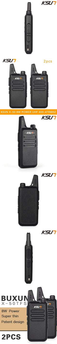(2 PCS)KSUN X-50TFSI Ham Two Way Radio walkie talkie Dual-Band Transceiver BUXUN X-50(Black)