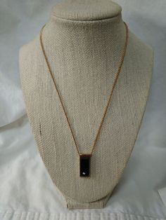 Vintage Avon Signed Pendant Necklace Black Simulated Onyx with Crystal Gold Tone | Jewelry & Watches, Vintage & Antique Jewelry, Costume | eBay!