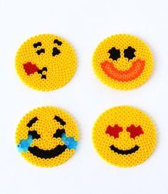 Fun Emoji Perler Bead Patterns | AllFreeKidsCrafts.com