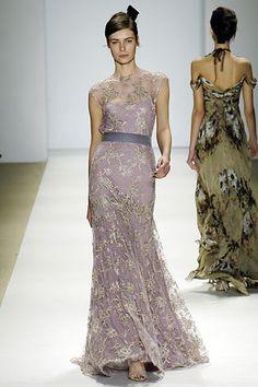 Monique Lhuillier gown - love the lilac!
