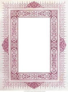 Рамки vintage.: На крыльях вдохновения. Calligraphy Borders, Islamic Calligraphy, Calligraphy Art, Borders For Paper, Borders And Frames, Printable Frames, Artwork Images, Frame Clipart, Arabesque