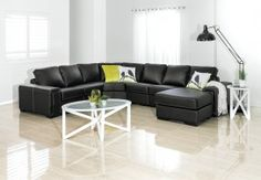Our Range of Leather Look Lounges | Super Amart