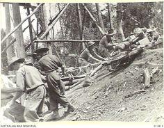 20-9-1942 Hauling Guns - New Guinea