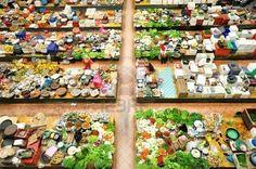 Vegetable market in Kota Bharu, Kelantan, Malaysia