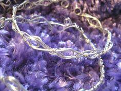 Bracelet en cuivre argenté par éléctrolyse