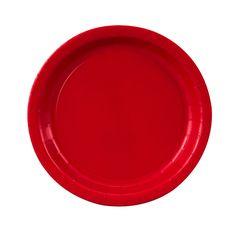 Punainen paperilautanen, pieni (8  kpl)