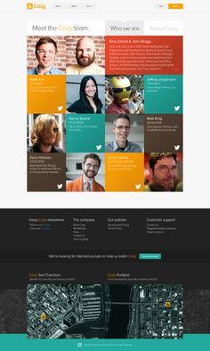 About Page Design Color Web