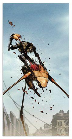ThinkGeek :: Half Life 2 Dog Vs. Strider Poster