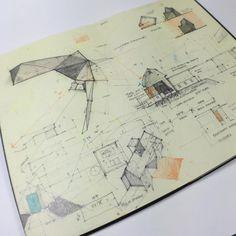 Design process sketchbook for Oneida Visitors Center. Notebook Sketches, Journal Notebook, Journals, Architect Sketchbook, Study Architecture, Architecture Drawings, Plan Sketch, Creative Notebooks, Native Design