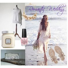 Romantic Wedding by mdrozd on Polyvore featuring moda, The Limited, Laura Mercier and OPI